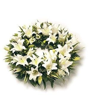 Fleurs-amanda-Surrey-funeral-flowers-white-lily