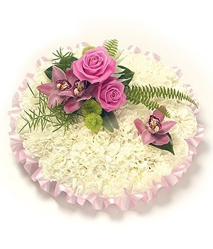 Fleurs-amanda-Surrey-funeral-flowers-Pink-White-Posy