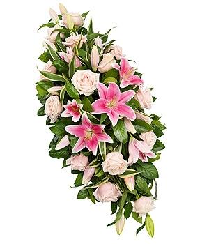Fleurs Amanda-Weybridge-Surrey-Funeral-Flowers-sprays-sheafs-Pink