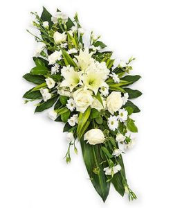 Fleurs Amanda-Weybridge-Surrey-Funeral-Flowers-sprays-sheafs-white-roses