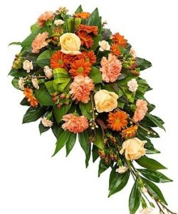 Fleurs-amanda-Surrey-funeral-flowers-orange-spray