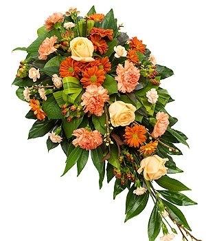 Fleurs-amanda-Surrey-funeral-flowers-orange-spray