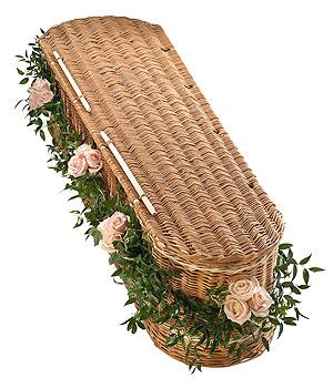 Fleurs-amanda-Surrey-funeral-flowers-Pink-Rose-Garland