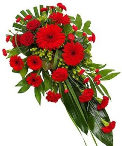 Fleurs-amanda-Surrey-funeral-flowers-Red-Single-Ended-Spray