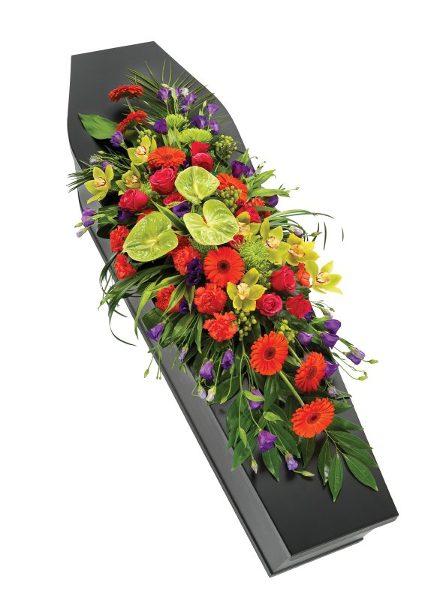 Fleurs-amanda-Weybridge-funeral-flowers-red-casket-spray