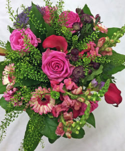 Fleurs-amanda-Surrey-funeral-flowers Red Double Ended Spray pink Roses
